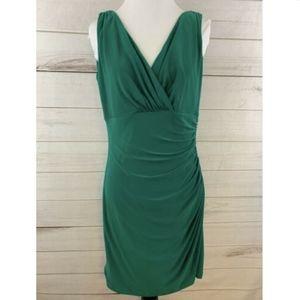 Ralph Lauren Faux Wrap Dress Ruched Bodycon